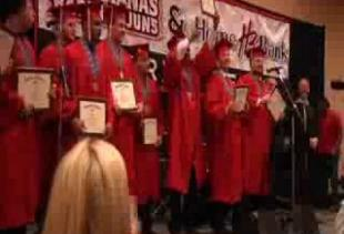 Senior Football Players Graduate During Special Ceremony